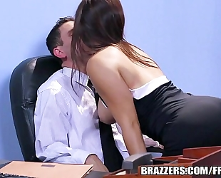 Brazzers.com - office stocking three-some
