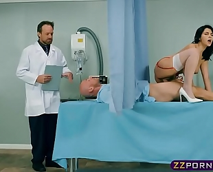 His schlong is likewise large for his dirty slut wife but flawless for his nurse