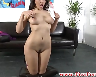 Real chica fingers herself previous to bj