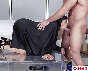 Hot arab doxy ella acquires love tunnel group-fucked