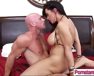 Hot pornstar (lisa phoenix) acquire busy on web camera with massive monster penis vid-17