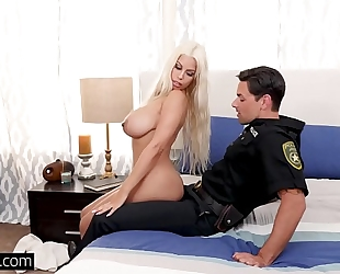 On fourth of july bridgette b copulates a cop to acquire out of trouble