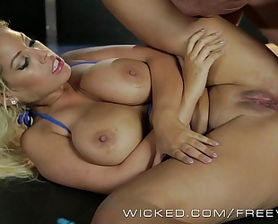 Wicked - asa akira and allies receive butt drilled by strippers