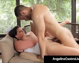 Cubas porn queen angelina castro receives a large dark weenie & cum
