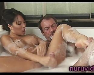 Asa akira hawt cook jerking in the bathtub