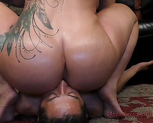 Boss ryan conner makes the janitor take up with the tongue her booty