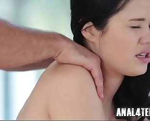 Teen receives anal drilled for her bday