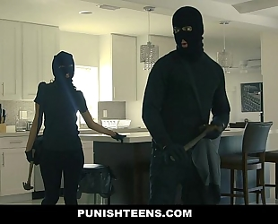 Punishteens - large wazoo thief manacled and drilled
