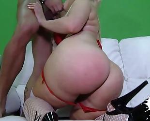 Anal breasty latin babe blondie
