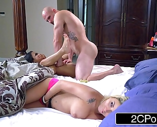 Stepsibling slumber party - blond bimbo marsha may & swarthy cutie nicole bexley
