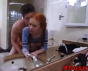 Step daughter dolly little riding boner in bath