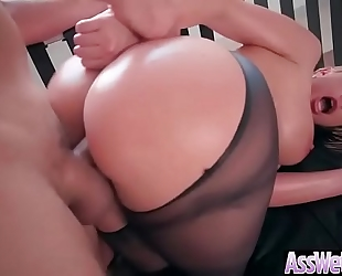 (brooklyn chase) moist large booty oiled white women love anal hardcore sex clip-12