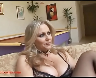 Blacksruinblondes.com golden-haired mommy milf cogar muff ruined by monster dark 10-Pounder