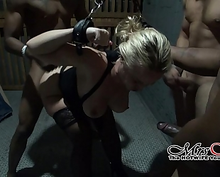 Chained and gang team-fucked