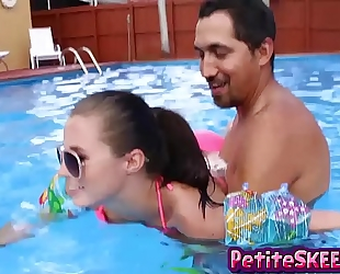 Swim and 10-Pounder lessons for teenie legal age teenager carolina sweets
