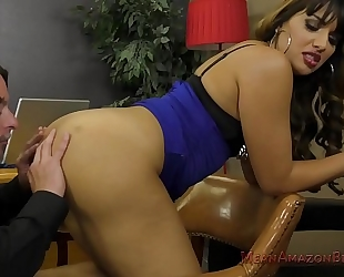 Mercedes carrera makes her lawyer take up with the tongue her a-hole
