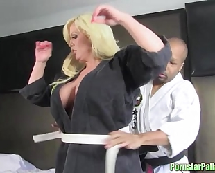 Posh pornstar karate training