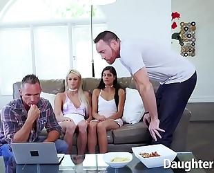 Emma hix and katya rodriguez engulfing ramrod and group-fucked
