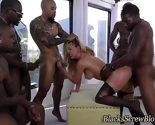 Bukkaked bitch bonks bbc