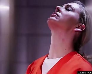 Hot karlee grey lesbo bonks in jail - lesbiancums.com