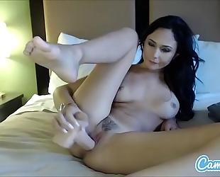 Ariana marie hawt brunette hair masturbating with biggest sex toy.