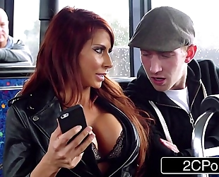 Steamy ffm 3some on a journey bus in london - jasmine jae, madison ivy