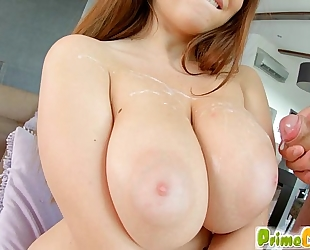 Primecups brunette hair shows off her curves during the time that fucking marina visconti