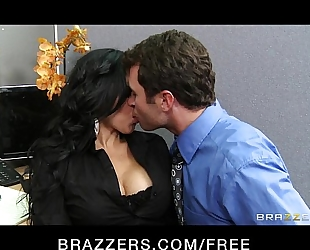 Sexy big-boobed lalin girl diamond kitty has rough-sex with co-worker