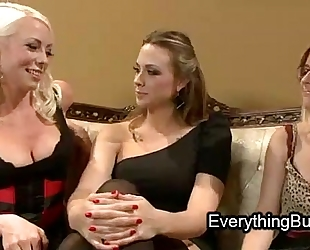 Babe anal mistreated by 2 lesbo sweethearts