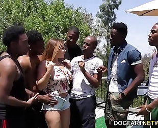 Natasha wonderful interracial team fuck sex