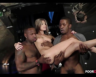Cuck witness his slutty wife gina gerson banging 2 bbcs