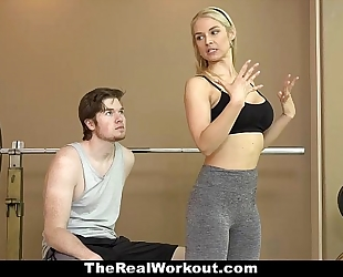 Therealworkout - hawt milf bonks fitness client