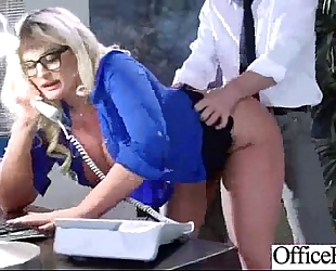Gorgeous white bitch (julie cash) with large melons like sex in office clip-25