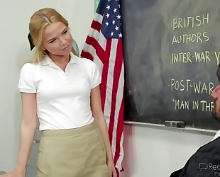 Alina west jock riding in classroom