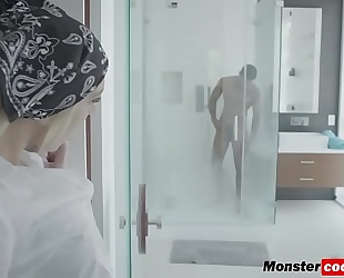 Tiffany watson getting her cum-hole pounded hard by a monster dark knob