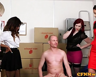 Mean femdom group pleasure with kiki minaj