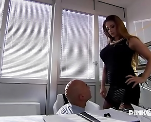 Cathy heaven anal in office! heavy zeppelins!