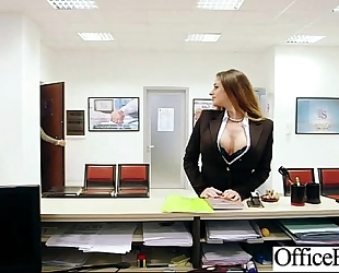 (cathy heaven) breasty office bitch concupiscent cheating wife group-fucked clip-11