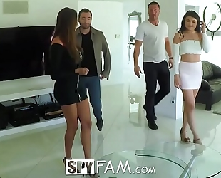 Spyfam thanksgiving orgy with anissa kate and adria rae