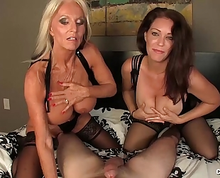 Double milf pov cook jerking
