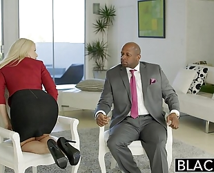 Blacked business blond anikka albrite a-hole drilled by a bbc