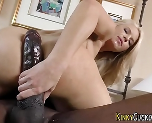 Babe guzzles from bbc