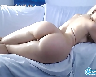 Anikka albrite large tit bigs wazoo golden-haired finger fucking her booty and cookie.