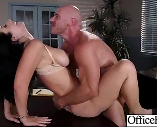 Slut horny white wife (jayden jaymes) with large melon bra buddies gangbanged in office clip-20