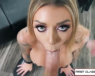 First class pov - see karma rx take her face hole and slit full of dong
