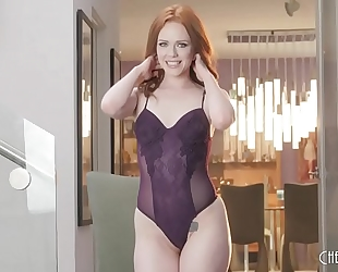Ella hughes undresses out of her underware