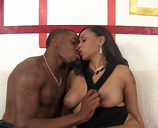Horny black chick gets eaten out and shagged by her BF