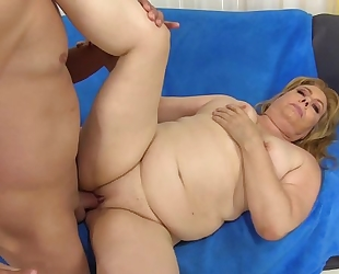 Chubby GILF with natural boobs gets properly fucked