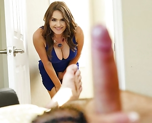 Insatiable MILF with big boobs joins stepdaughter and her man