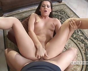 All-natural Hungarian XXX babe gets assfucked in the living room